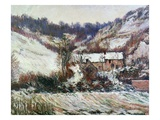 Snow Near Falaise, Normandy, C.1885-86 (Oil on Canvas) Giclee Print by Claude Monet