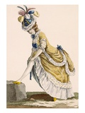 Lady Pulling Up Her Stocking, Engraved by Le Beau, Plate No.1 Giclee Print by Pierre Thomas Le Clerc