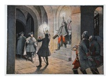 Friederich in Schloss Lilla, 5 December 1757 (Colour Litho) Giclee Print by Richard Knoetel