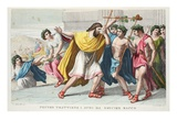 Pentheus Persecutes Bacchus' Disciples, Book III, Illustration from Ovid's Metamorphoses, Florence Giclee Print by Luigi Ademollo