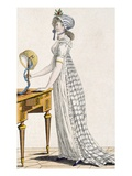 Paris Dress, from 'Lady's Magazine', 1802 (Coloured Engraving) Giclee Print by  English
