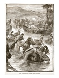 The Macedonians Crossing the Jaxartes (Litho) Giclee Print by  English