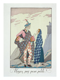 Have No Fear, Little One! 1922 (Pochoir Print) Giclee Print by Georges Barbier