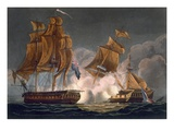 Capture of La Tribune, June 8th 1796, Engraved by Thomas Sutherland Giclee Print by Thomas Whitcombe