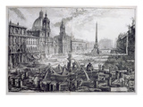 The Piazza Navona, from 'Le Antichita Romane De G.B. Piranesi (1756)', Published Paris 1835 Giclee Print by Giovanni Battista Piranesi