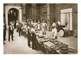 The Midday Meal Ready for Serving, the Kitchens, Alexandra Palace Giclee Print by  English Photographer