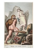 Hercules Saves Hesione, Book XI, Illustration from Ovid's Metamorphoses, Florence, 1832 Giclee Print by Luigi Ademollo