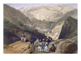 The First Descent Through the Koojah Pass, from 'Sketches in Afghaunistan' Giclee Print by James Atkinson