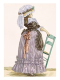 Lady Leaning on Chair, Engraved by Dupin, Plate No.201 Giclee Print by Francois Louis Joseph Watteau