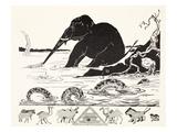 The Elephant's Child Having His Nose Pulled by the Crocodile Gicléedruk van Kipling, Rudyard