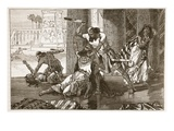 Massacre of the Hivites by Simeon and Levi (Litho) Giclee Print by  English