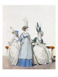 Evening Dresses for the Opera and Concerts, Fig. 96, Fig. 97 7 Fig. 98 Giclee Print by Nicolaus von Heideloff