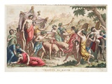 Bacchus' Rites or Triumph, Book III, Illustration from Ovid's Metamorphoses, Florence, 1832 Giclee Print by Luigi Ademollo