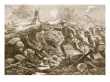 Lieutenant (Temporary Lieutenant-Colonel) R.B. Bradford, MC, Rallies the Men of Another Battalion Giclee Print by Alfred Pearse