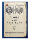 Glory to Our Aviators', Commemorative Song Celebrating the French Pioneer Flying Aces Giclee Print