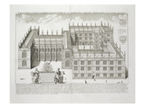 Bodleian Library, Oxford, from 'Oxonia Illustrata', Published 1675 (Engraving) Giclee Print by David Loggan