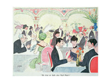 Noel Peter's Restaurant in Paris, 1914 (Colour Litho) Premium Giclee Print by  Sem