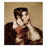 Portrait of Adam Bernard Mickiewicz (1798-1855) (Gouache on Paper) Giclee Print by Walenty Wankowicz