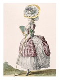 Lady Dressed in a Polonaise Style Dress, Engraved by Dupin, Plate No.82 Giclee Print by Claude Louis Desrais