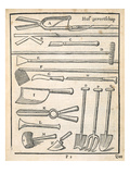 Garden Tools, from 'The Dutch Gardener' by Johann Van Der Groen, Published 1699 (Engraving) Giclee Print by  Dutch
