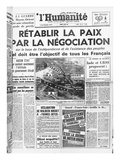 Announcement of War Between Israel and Egypt, Jordan and Syria in the French Communist Newspaper Giclee Print