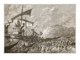 Landing of Julius Caesar in Britain (Litho) Giclee Print by  English