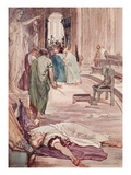 The Murder of Caesar, Illustration from 'Plutarch's Lives for Boys and Girls' Giclee Print by William Rainey