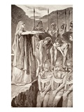 Deirdre's Lament, Illustration from 'Celtic Myth and Legend' by Charles Squire, 1905 (Litho) Giclee Print by John Henry Frederick Bacon