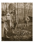 On the French Lorraine Front: a Poilu's Camp Letter-Box and Buzzard Mascots Giclee Print by  English Photographer