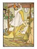 Don Quixote's Extraordinary Battle, Illustration from 'Don Quixote of the Mancha' Giclee Print by Walter Crane