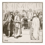 The Sophists Expelled from Rome (Litho) Giclee Print by  English