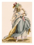 Lady's Costume Based on the Opera 'La Trevesti', Engraved by Bacquoy, Giclee Print by Francois Louis Joseph Watteau
