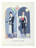 Day and Night, Plate 47 from 'La Gazette Du Bon Ton' Depicting Day and Evening Dresses, 1924-25 Lámina giclée por Barbier, Georges