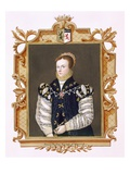 Portrait of Anne Russell (D.1604) Countess of Warwick from 'Memoirs of the Court of Queen Elizabeth Giclee Print by Sarah Countess Of Essex