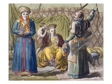 Buryat Family in an Interior, from 'Costume Dei...' by Giulio Ferrario, C.1820S-30S Giclee Print by  Italian