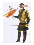 Costume for the Englishman, from La Boutique Fantastique, 1917 (Colour Litho) Giclee Print by Leon Bakst