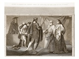 Henry IV Committing Prince James of Scotland, to the Care of His Tutors Giclee Print by  English