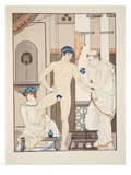 Massage, Illustration from 'The Works of Hippocrates', 1934 (Colour Litho) Giclee Print by Joseph Kuhn-Regnier
