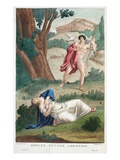Coronis Is Killed by Apollo, Illustration from Ovid's Metamorphoses, Florence, 1832 Giclee Print by Luigi Ademollo