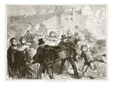 A Funeral During the Siege, March 1871 Giclee Print by  French