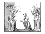King Charlemagne (742-814) Receiving the Oath of Fidelity and Homage Giclee Print by  French
