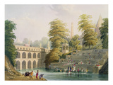View of the Bridge Near Baroda in Guzerat Giclee Print by Captain Robert M. Grindlay