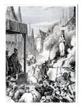 Joan of Arc at the Stake (Engraving) Giclee Print by  French