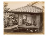Tycoon's Halting Place on the Tocaido Hasa, 1868 (B/W Photo) Giclee Print by Felice Beato