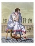 Roman Citizen, a Folio from 'L'Antique Rome', Engraved by Labrousse, Pub. 1796 (Colour Litho) Giclee Print by Jacques Grasset de Saint-Sauveur