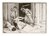 The Death of Tiberius Gracchus (Litho) Giclee Print by  English