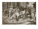 Assassination of Julius Caesar (Litho) Giclee Print by  English