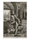James Watt Experimenting (Litho) Giclee Print by  English