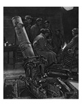 A French Trench-Mortar in its Winter Den, Illustration from 'The Illustrated War News' Giclee Print by  French Photographer