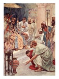 Thermistocles at the Persian Court, Illustration from 'Plutarch's Lives for Boys and Girls' Giclee Print by William Rainey